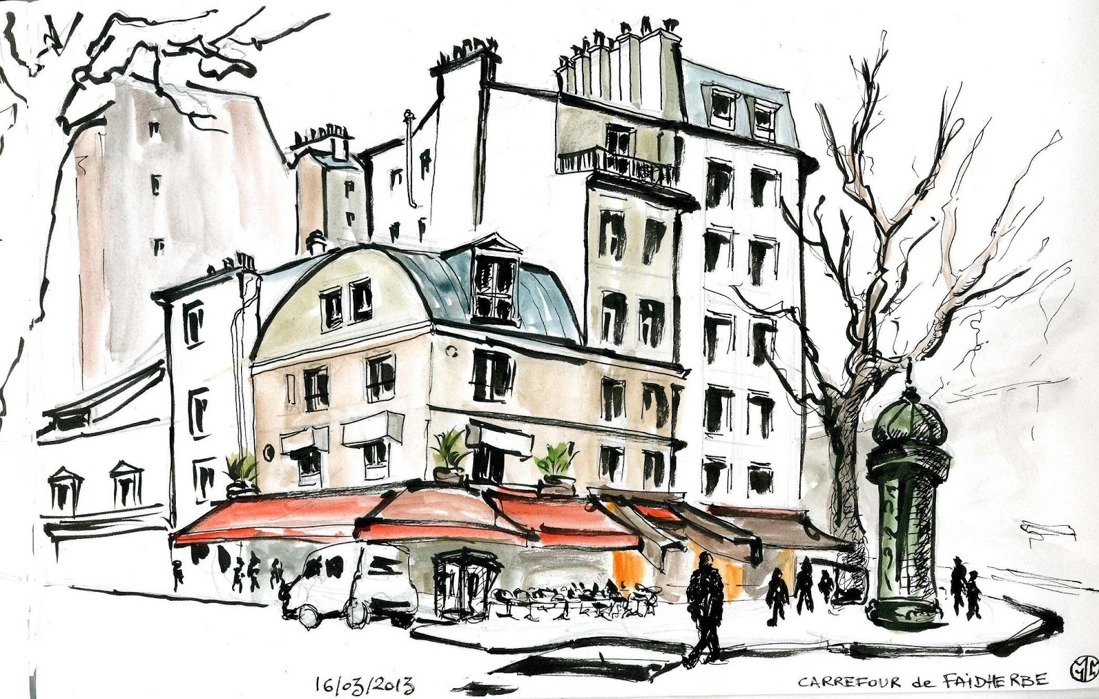 Urban Sketchers Paris Rue Du Faubourg St Antoine