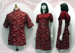 PO H MODEL BAJU BATIK WANITA MODERN