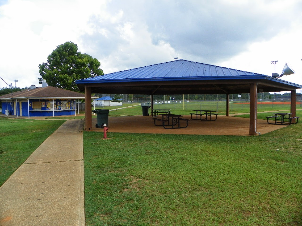 Pavilion and picnic area at John R. Jones Jr. Athletic Complex
