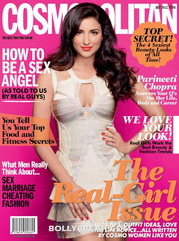 Parineeti Chopra Cosmopolitan Magazine CoverPage - Parineeti Chopra Cosmopolitan Magazine Scans 2012