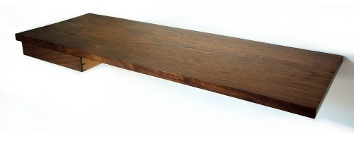 Floating Desk Shelves http://mid2mod.blogspot.com/2011/05/simply-beautiful.html