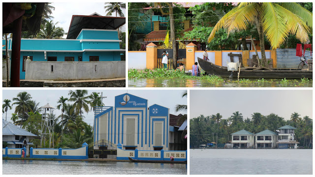 Colourful Buildings near Backwaters