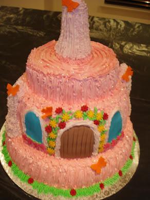 Icing Sugar Castle Cake