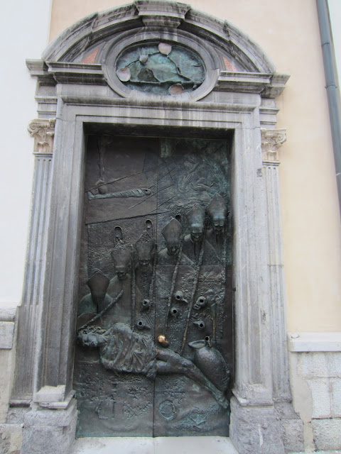 Bronze Door, St. Nicholas Church, Ljubljana, Slovenia / Souvenir Chronicles