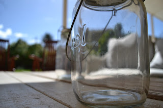 Solar Consol Glass Jar