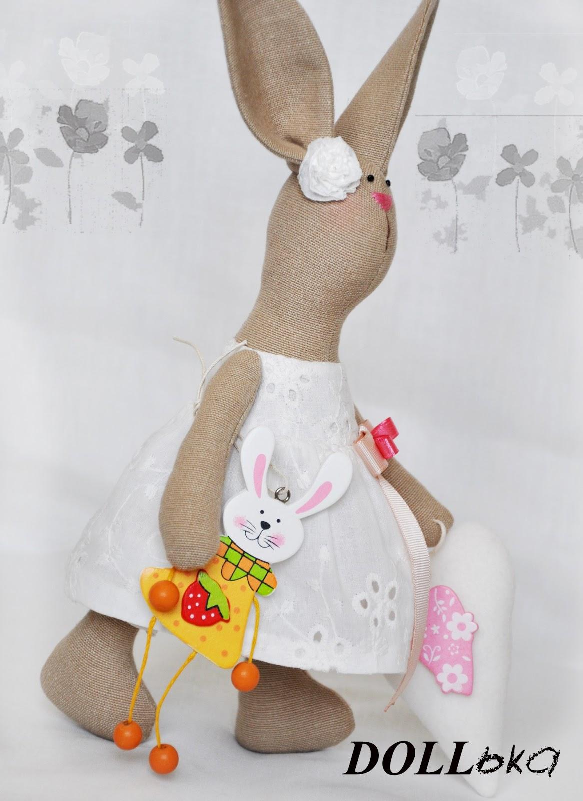 Зайка текстильная игрушка ручной работы