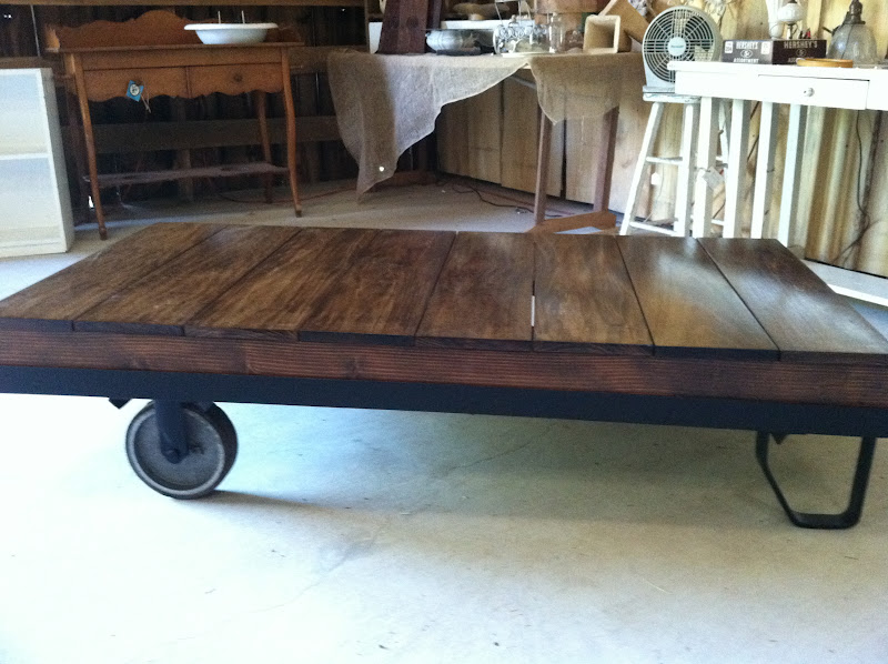 Vintage and Company: Luggage Cart Coffee Tables