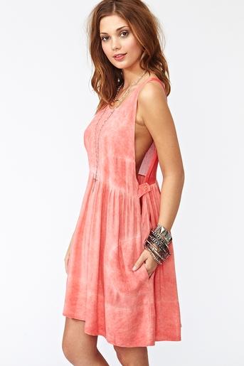 Topanga Dress - Coral
