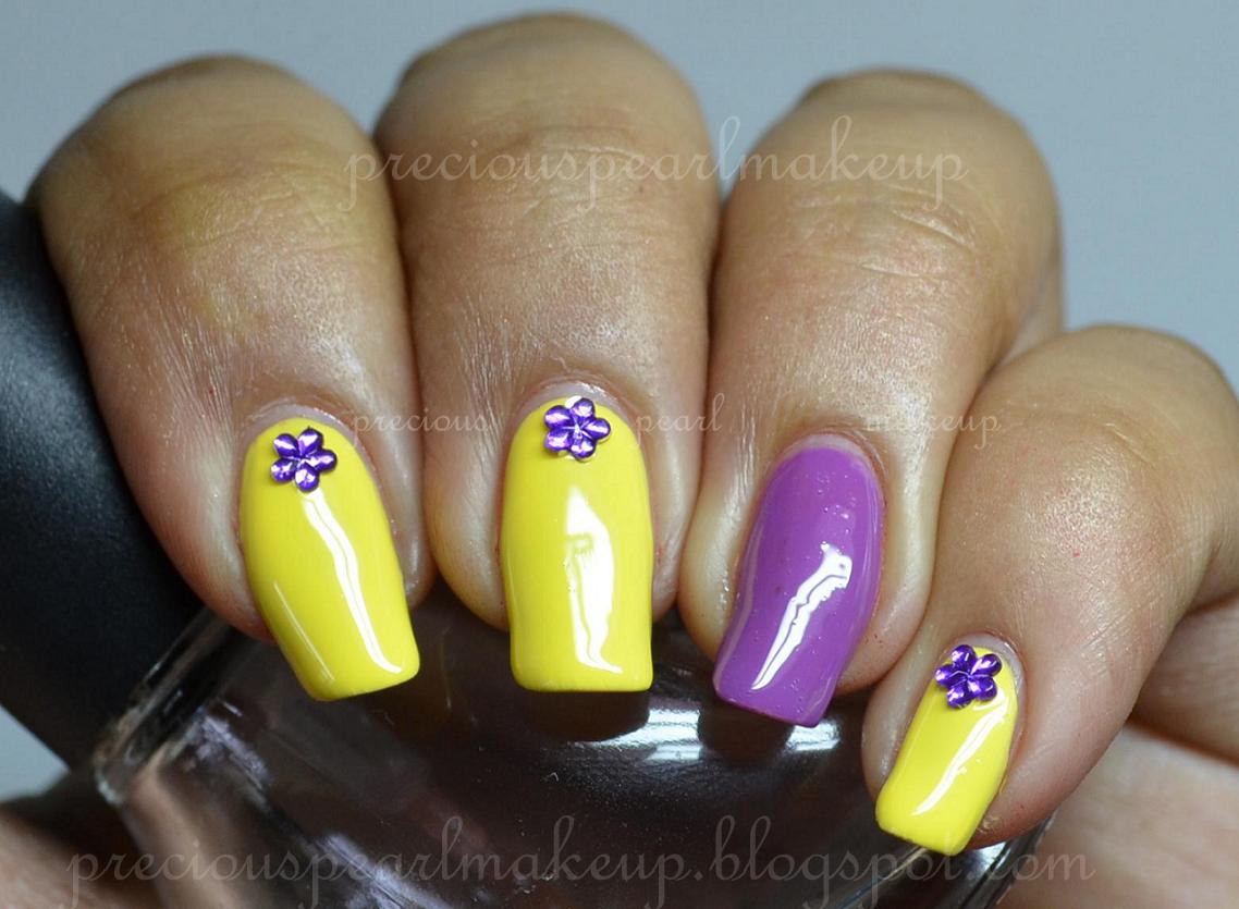 preciouspearlmakeup: Keep it Simple...Yellow and Purple