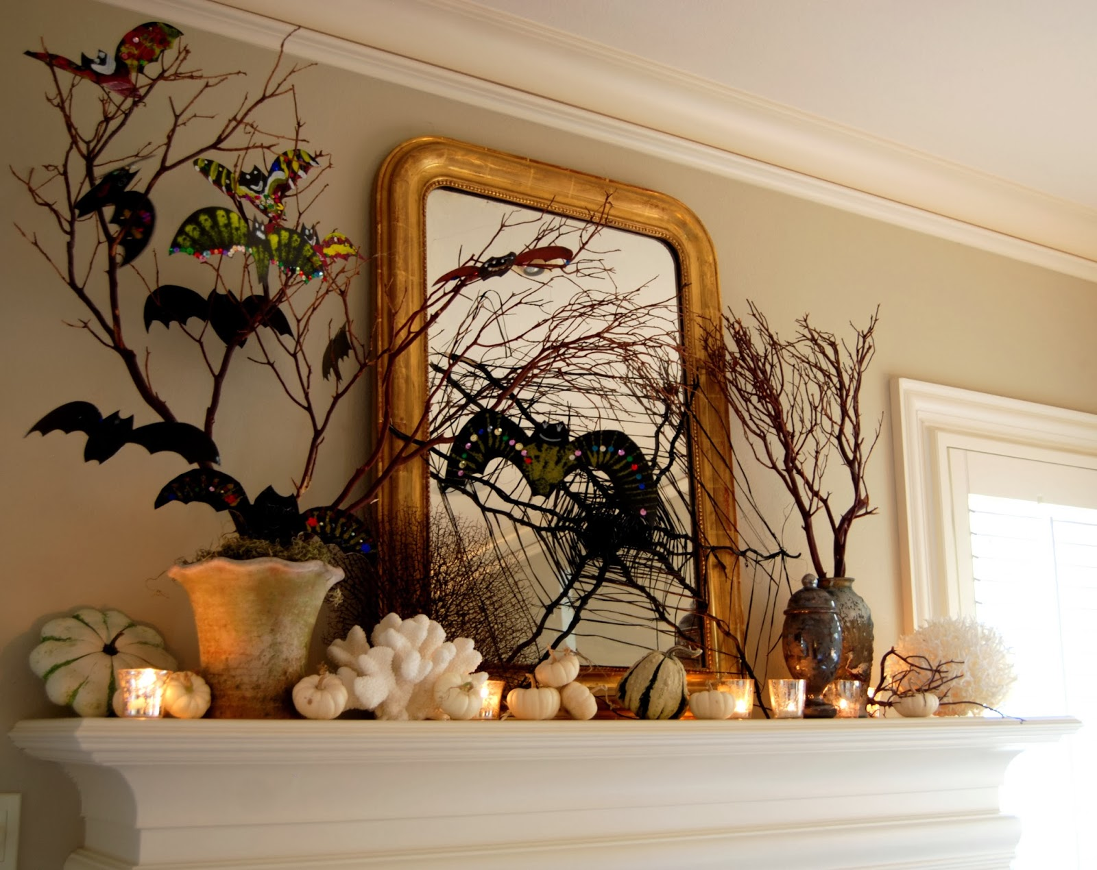 Mantle for a Spooky-Glam Halloween