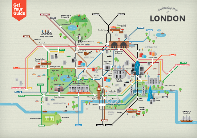 Get Your Guide e la Sightseeings Map di Londra