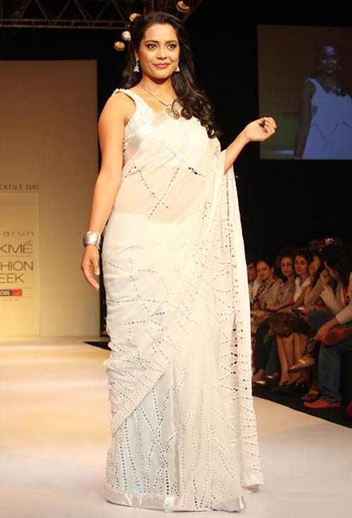 Shahana Goswami for Debarun1 -  Bollywood celebs at Lakme Fashion Week 2012