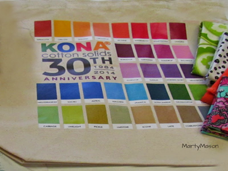 Happy 30th Anniversary to Kona cotton solids - it's a canvas tote