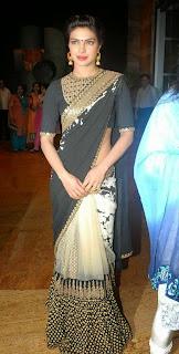 Priyanka Chopra Sexy in Black Saree