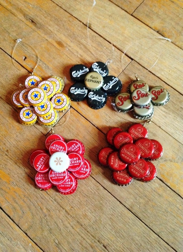 Beer bottle cap craft project