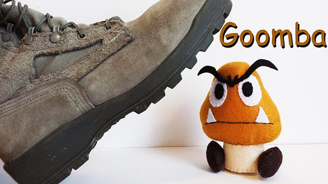 How to Make a Goomba plushie tutorial