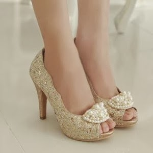 Gold Heels with price