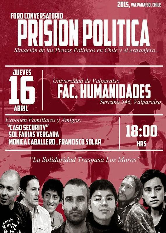 VALPARAISO: FORO CONVERSATORIO PRISIÓN POLITICA