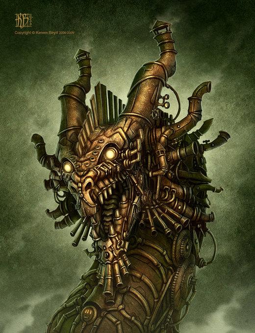 Steampunk Dragon por kerembeyit