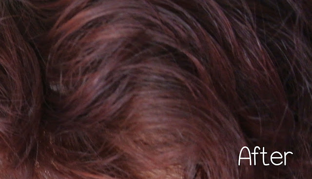 red hair after dying