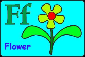 Карточка английской буквы F
