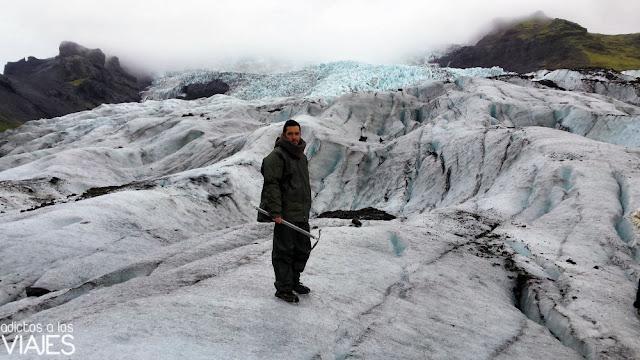 Trekking por el glaciar Falljökull