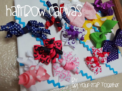 Hair bow Canvas Tutorial by GYCT