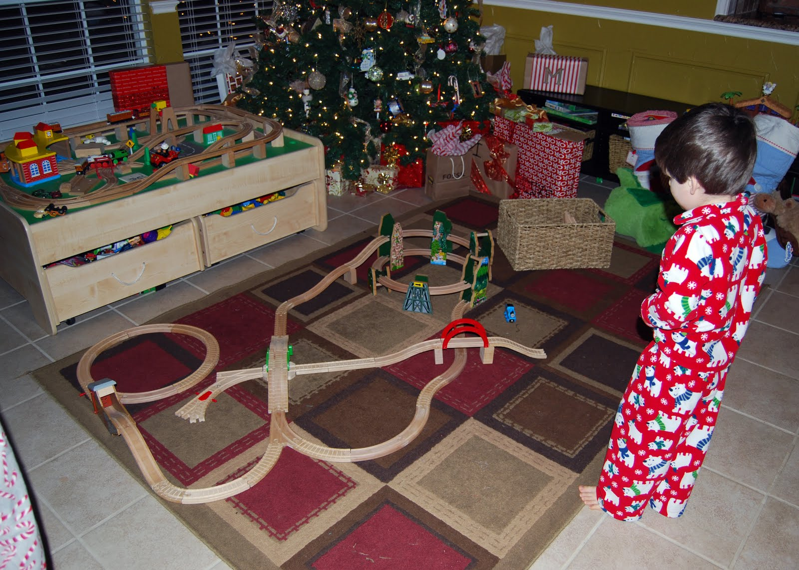 pretty much blew past the thomas stuff that santa left out for him in order to check and see if santa and his reindeer had eaten the treats he left out - Stuff For Christmas