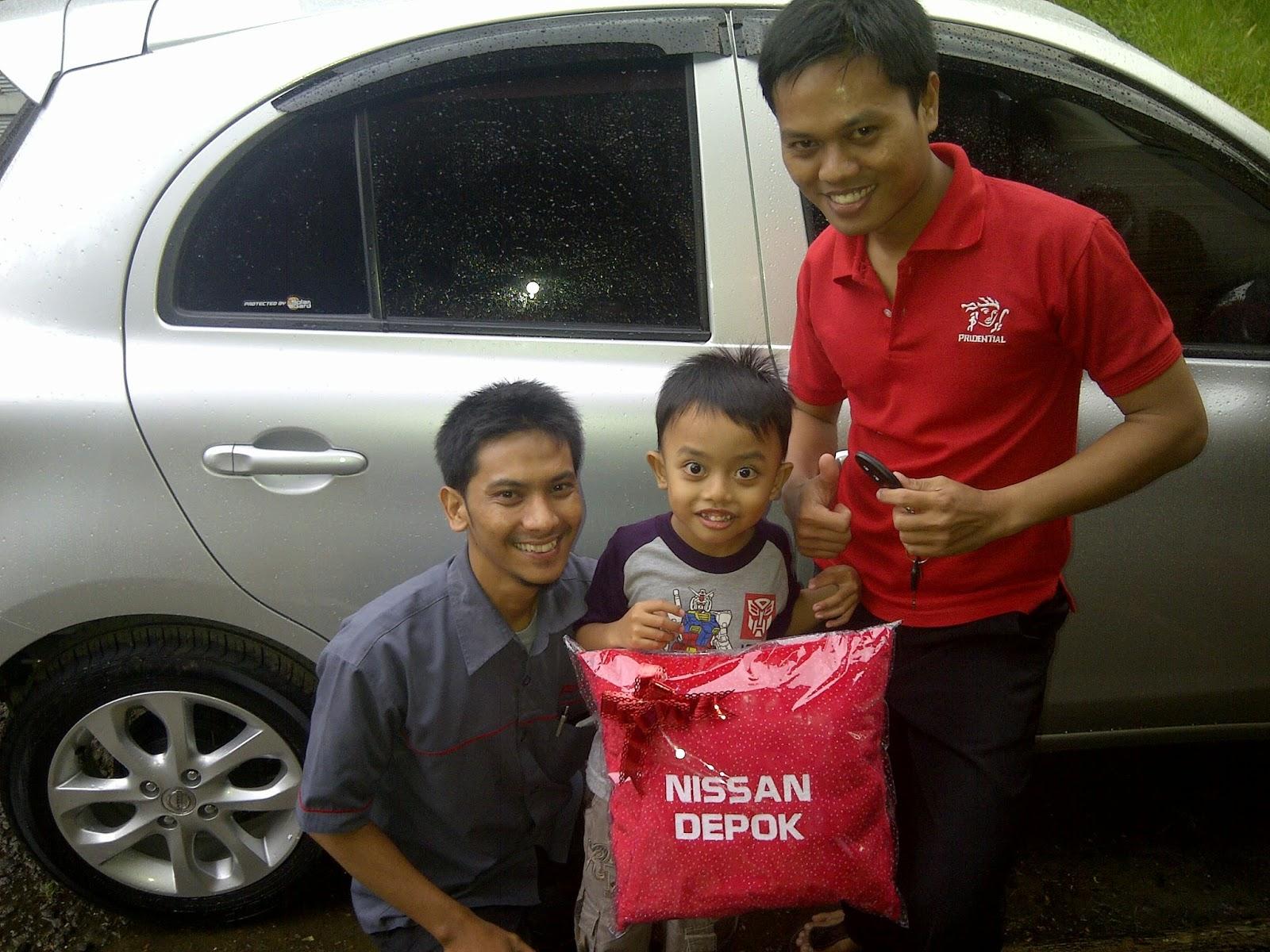 Terimakasih atas kepercayaan Pak Gunawan yg telah membeli New March melalui media www.touchnissan.com.  Semoga Berkah ya Pak...