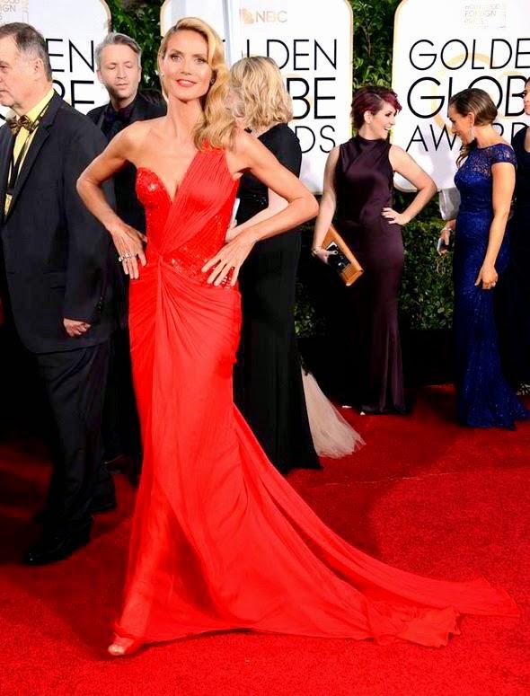 Heidi Klum best dressed at Golden Globe Awards 2015