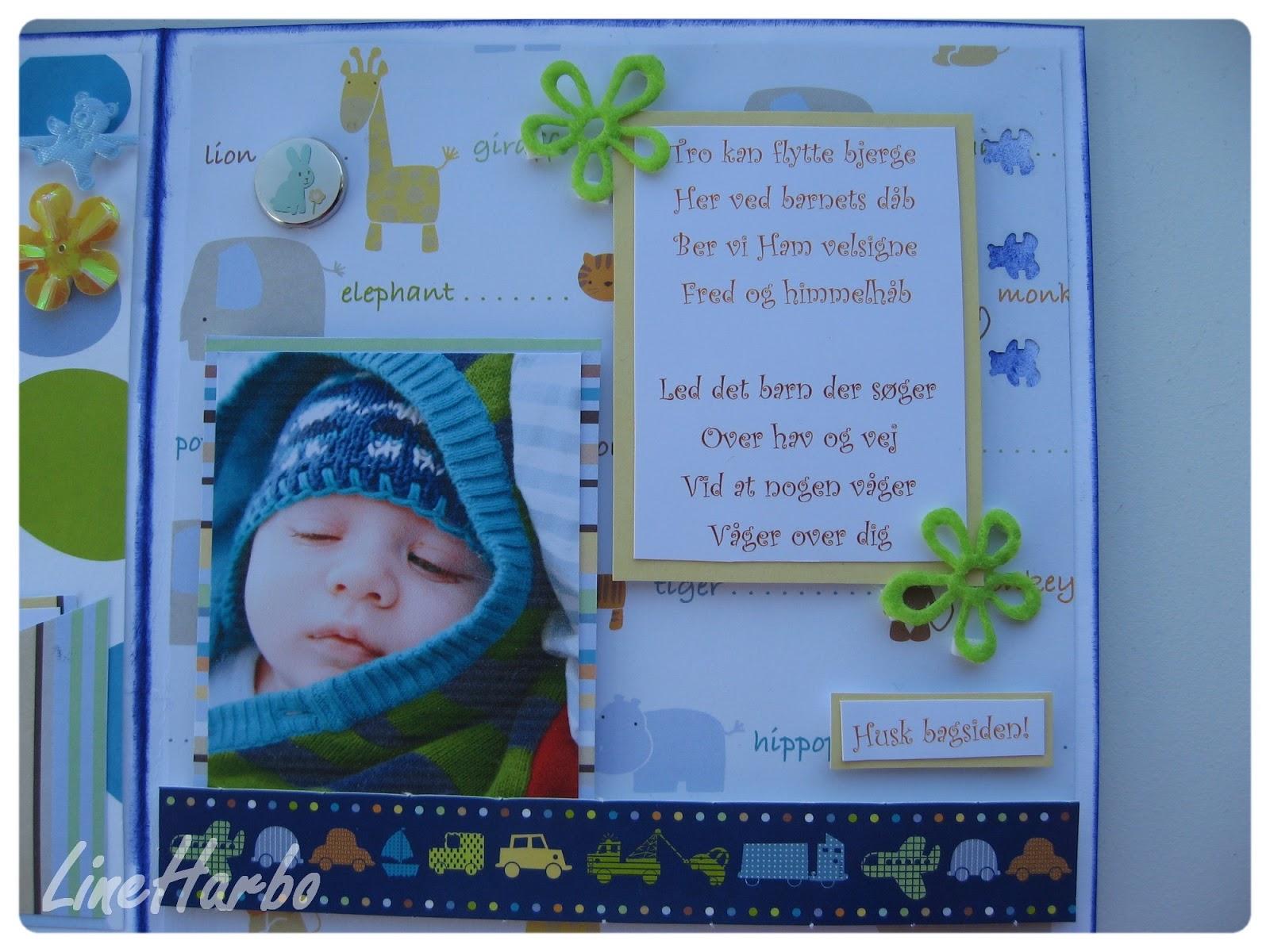 kort til barnedåb