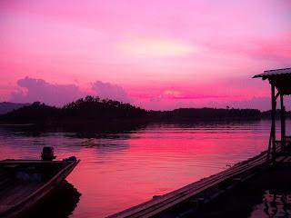 sunset senja hari