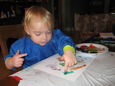 Jenni finger painting!