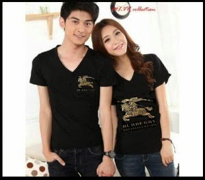 Baju: Kaos Couple Burberry Hitam