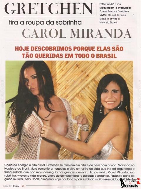 Fotos de Carol Miranda nua mostrando bunda na Área Vip