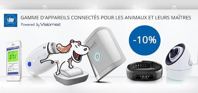 Restez connectés avec votre animal et profitez de -10% sur une gamme d'objets connectés.