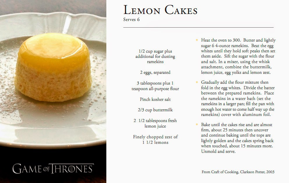 receta lemon cake game of thrones