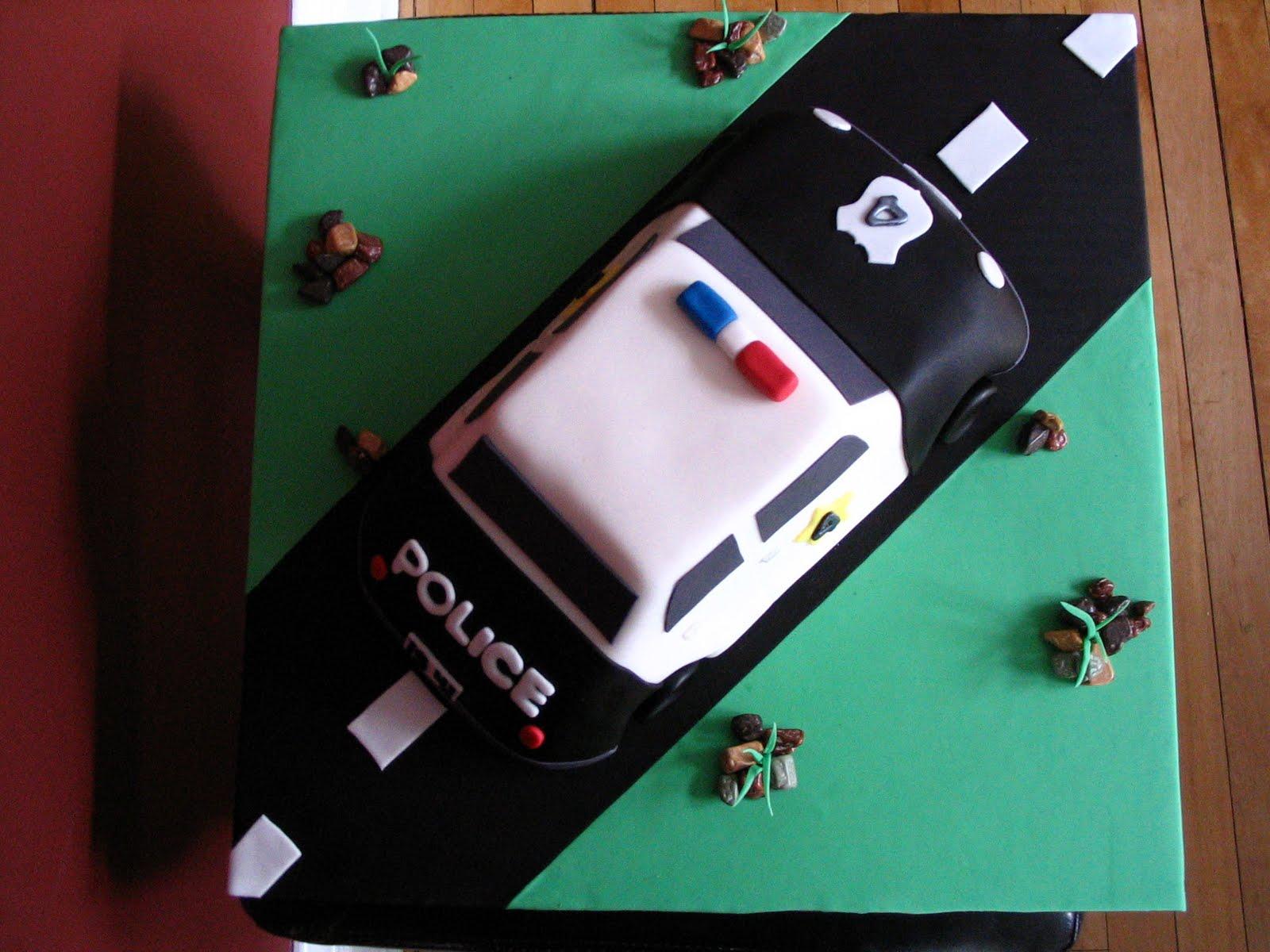 police car cake pan