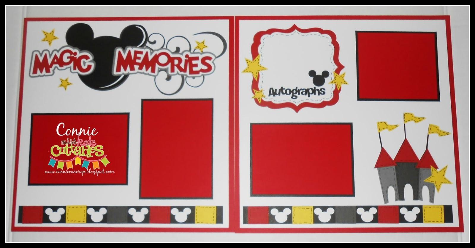 Miss Kate Cuttables: Magic Memories Layout