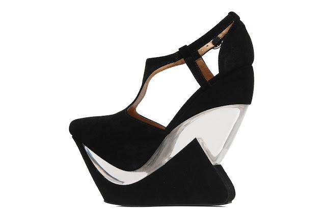 Towering wedge heel shoes