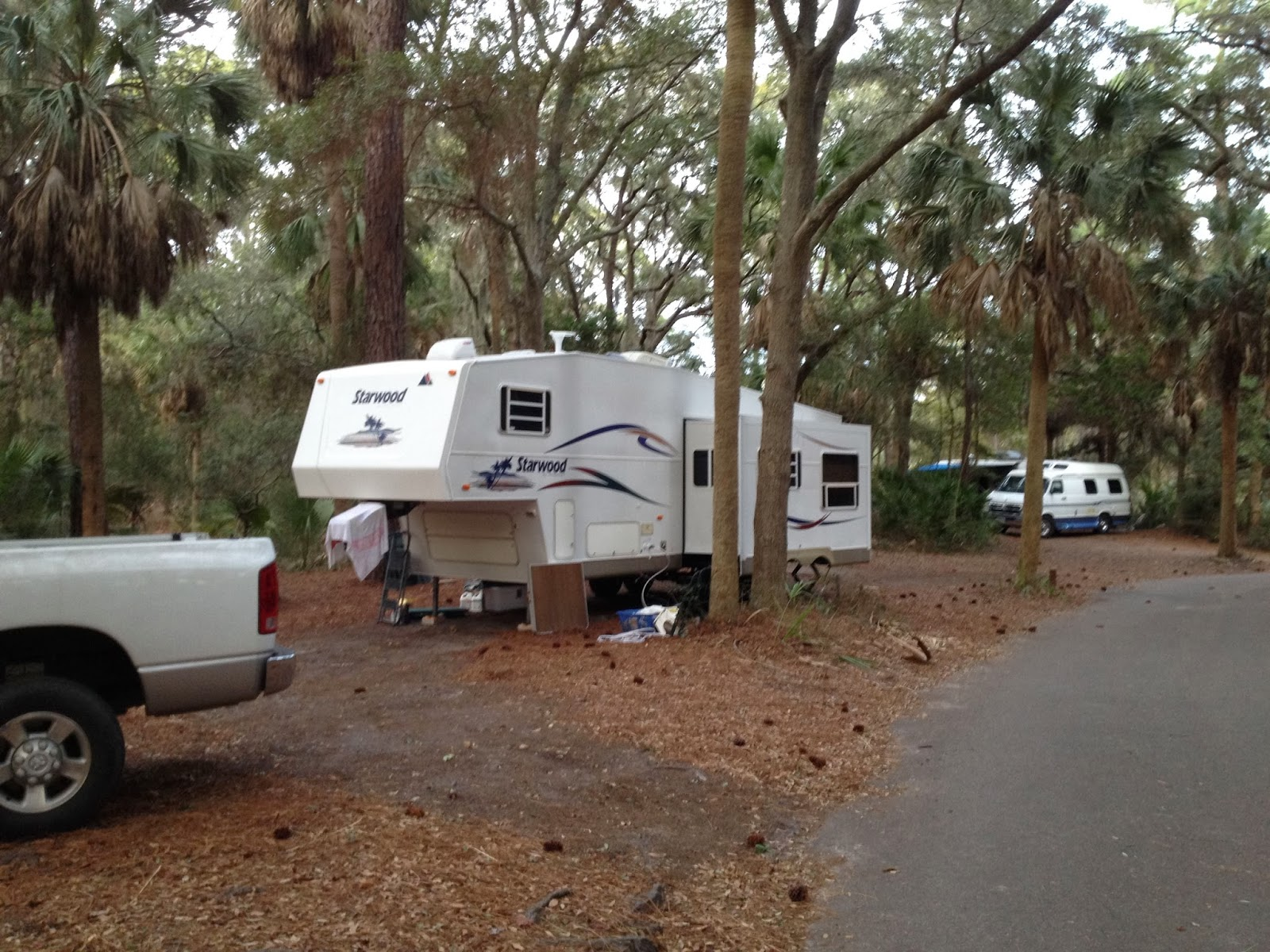 Hunting Island Is A Beautiful State Park In South Carolina. The Campground  Is Wooded And Fairly Flat. The Beach Is A Short Walk To All The Campsites.