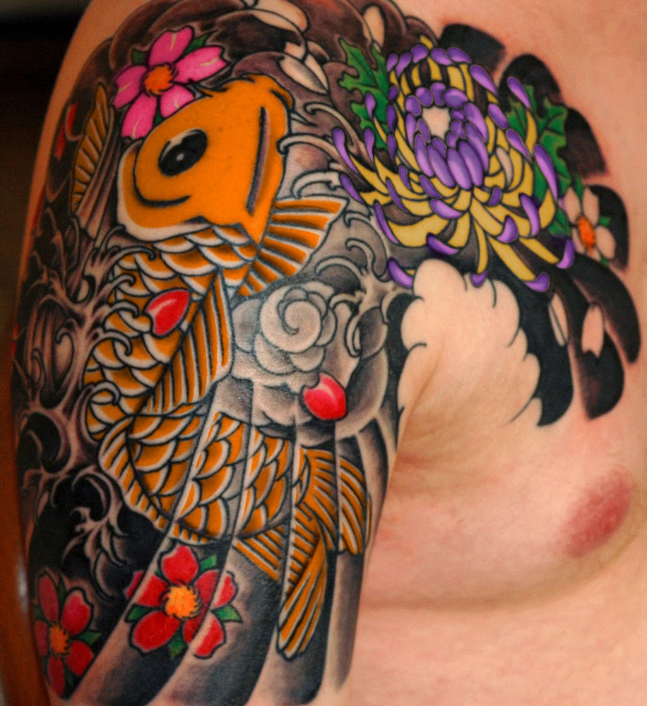 asian koi fish japanese tattoo tattoos art