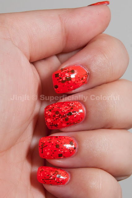 The Nail Junkie - Watermelon Jelly Shimmer and Cover Band - Sticks n Stones
