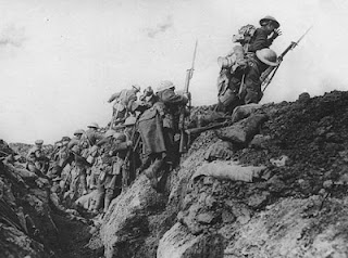 bayonet charge gcse Bayonet charge is perhaps unusual for a ted hughes poem in that it focuses on a nameless soldier in the first world war (1914-18) it describes the experience of 'going over-the-top'.