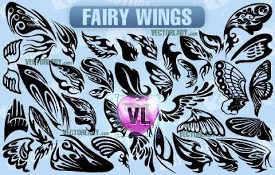 excelente pack de alas de mariposas en vectores