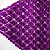 Shawl with  grape cluster stitch