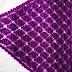 Shawl with  grape cluster stitch