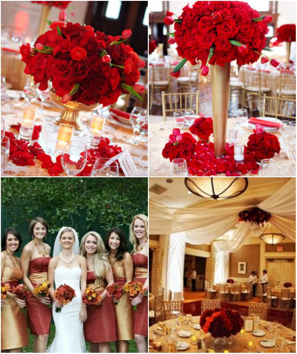 Casamento Vermelho Dourado E Branco Car Interior Design -> Decoração Para Casamento Vermelho Branco E Dourado