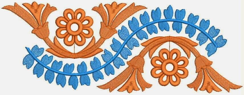 gelukbringer borduurwerk ontwerp Kant grens