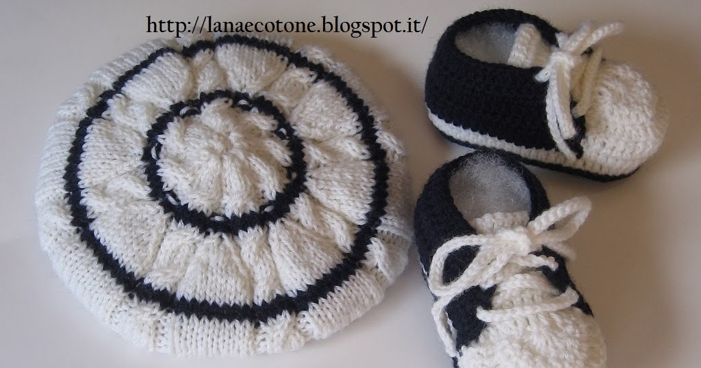 Lana e cotone maglia e uncinetto cappello e scarpine - Bagno 37 silvana bellaria ...